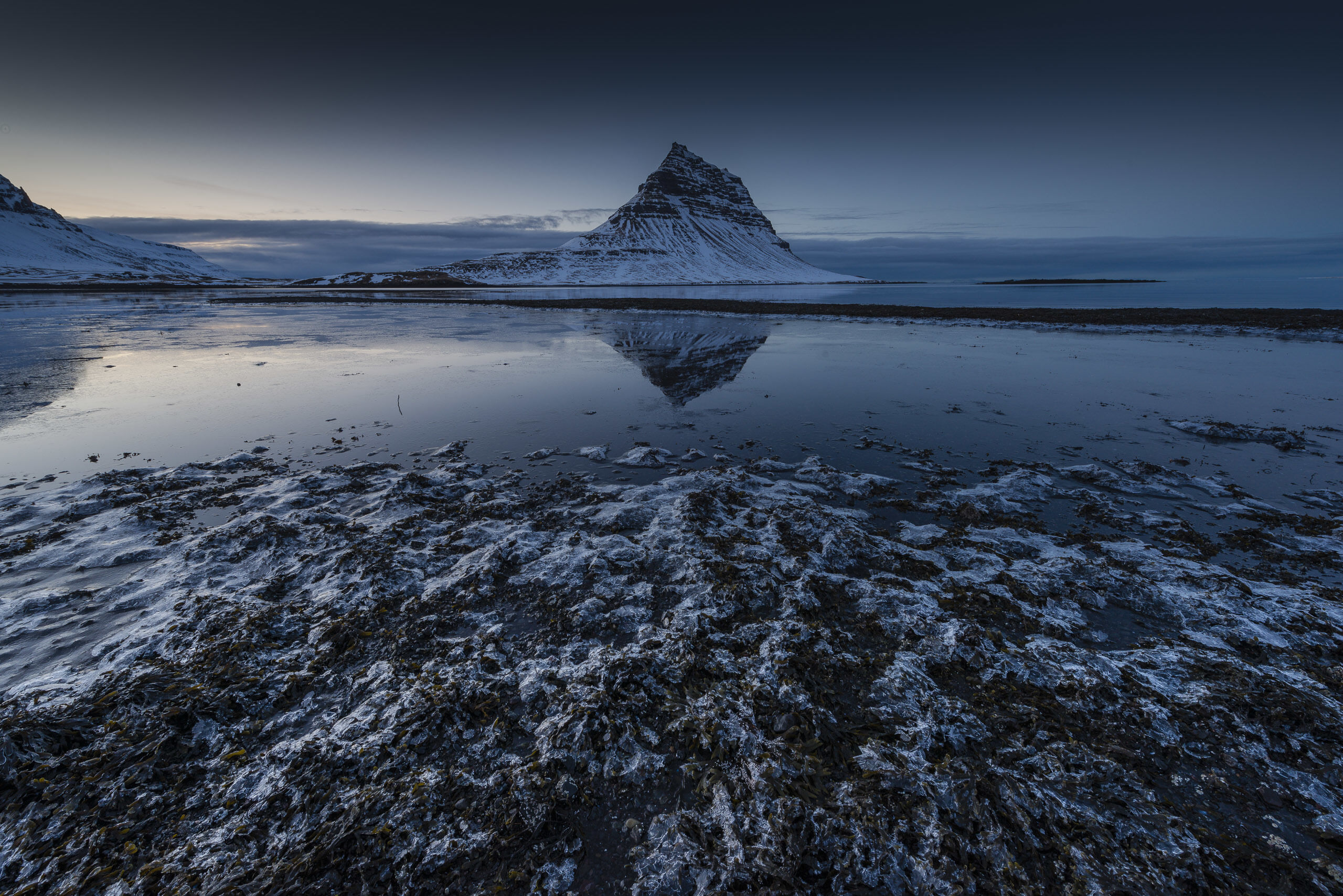 Kirkjufell Mountain and Ice on the beach, Iceland, photo © Jerry Young